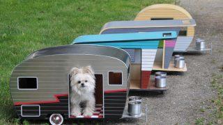 トレーラー型のオシャレなドッグハウス/Pet Trailer Series