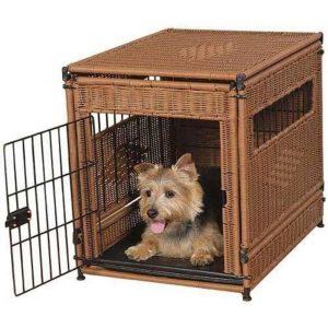 アジアンテイストのお洒落ドッグクレート/Mr. Herzher's Wicker Dog Crate