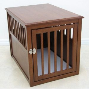 Indoor Wooden Pet Crate Table