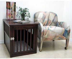 Indoor Wooden Pet Crate Table