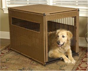 Mr. Herzher's Wicker Dog Crate