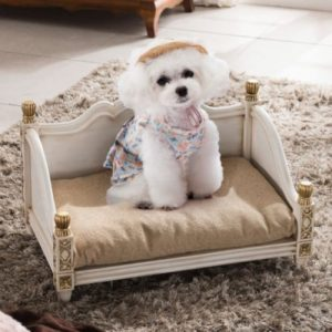 White Luxury Dog Bed