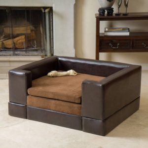 large rectangular cushioned Dog Sofa