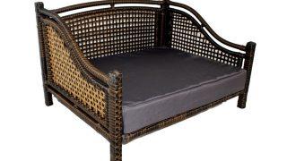 アジアンテイストが光る、個性的なラタン製ドッグベッド/Iconic Pet Maharaja Rattan Dog Sofa