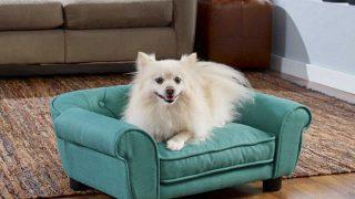 綺麗な色でフワフワオシャレなドッグベッド/Luxury Cozy Foam Dog Sofa