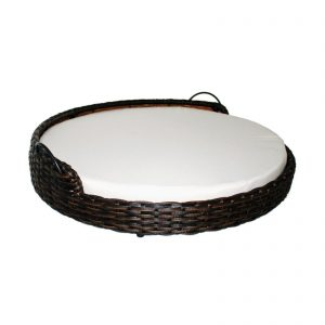 Iconic Pet Rattan Round Dog Sofa