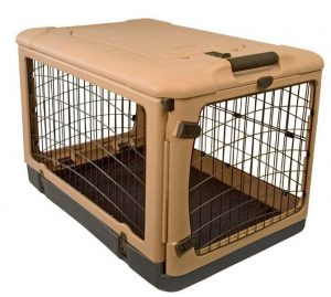 Pet Gear Tan 4 Door Folding Dog cage