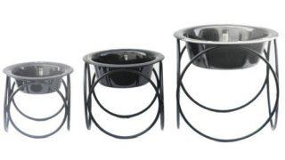 欧米安全基準のお洒落ドッグボウル/Platinum Pets  Olympic Diner Stand bowl