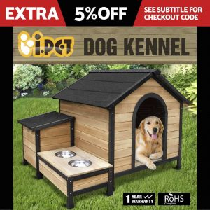 Extra Large Wooden Dog Cabin