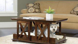カッコいいサイドテーブル型ドッグベッド/Sauder Coffee Table Dog Bed