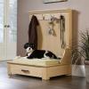実用性抜群のお洒落な木製フレームドッグベッド/Woodworking Entryway Dog Bed