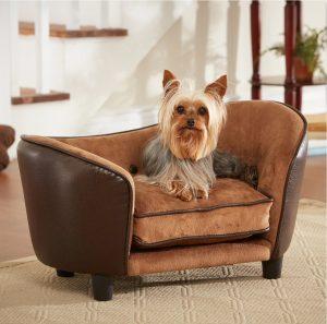 お洒落な曲線タイプのドッグベッド/Small Round Cozy Dog Bed