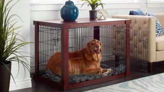 便利でオシャレなドッグケージ/Wooden Pet Crate&Cage
