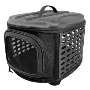 可愛いデザインのドッグクレート/Iconic Pet Dog Carrier(Black)