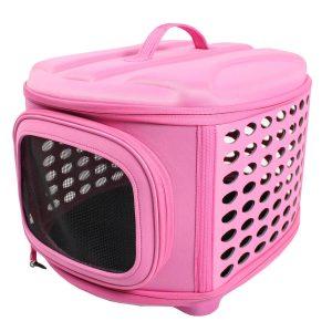 可愛いデザインのドッグクレート/Iconic Pet Dog Carrier(Pink)