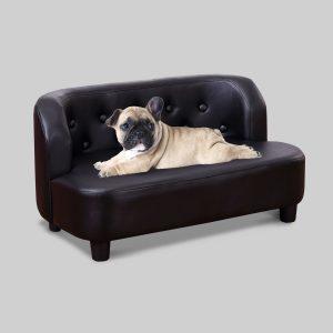 シンプルなPUレザーのドッグソファ/PU Couch Dog Bed