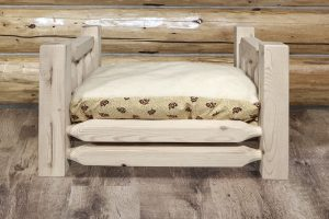 素朴な木製ドッグベッド/Homestead Rustic Pet Bed