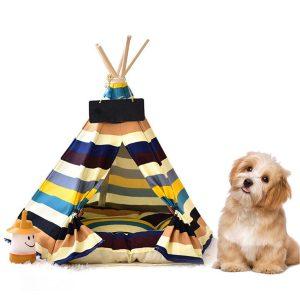 お洒落なインテリア風ドッグテントベッド/Removable Canvas Dog Tent Bed
