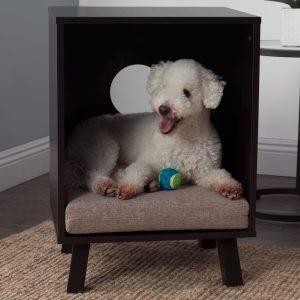 サイドテーブル兼用のお洒落ドッグベッド/End Table Hooded Dog Bed