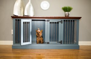 Double Wide Wooden Dog Crate