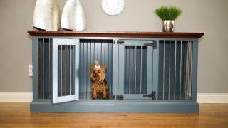 本格家具メーカーのドッグケージ/Double Wide Wooden Dog Crate