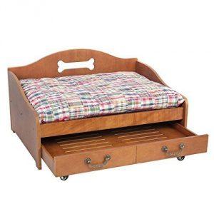 アメリカ・カントリー調の快適ドッグベッド/Wooden Cool Dog Bed
