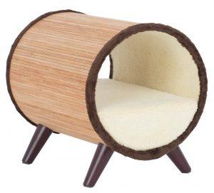 お洒落なチューブ型ペットベッド