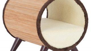 チューブ型ペットベッド/Tubular Pet Bed in Bamboo
