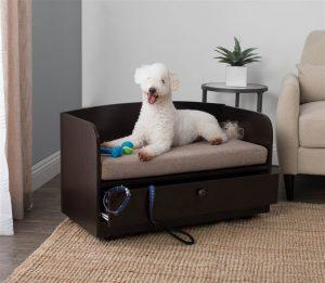 シンプルで収納が便利なドッグベッド/Pet Bed with Storage Drawer
