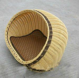 麦わら編みの可愛いドッグベッド/Straw hat rattan Dog Bed
