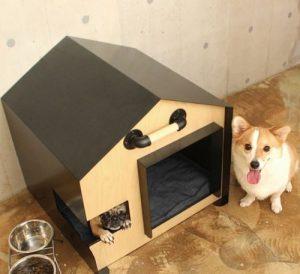 お洒落で近代的なドッグハウス/Modern Steel Wooden Dog House