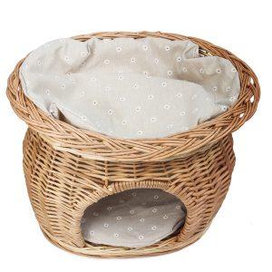 2段構造のバスケットドッグベッド/Two Tiers Dog Bed Basket